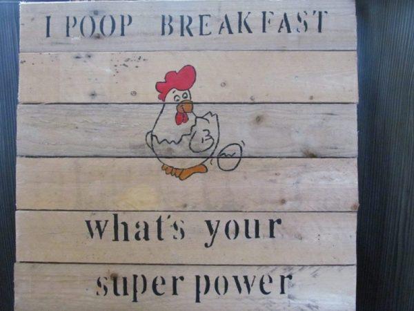 i poop breakfast